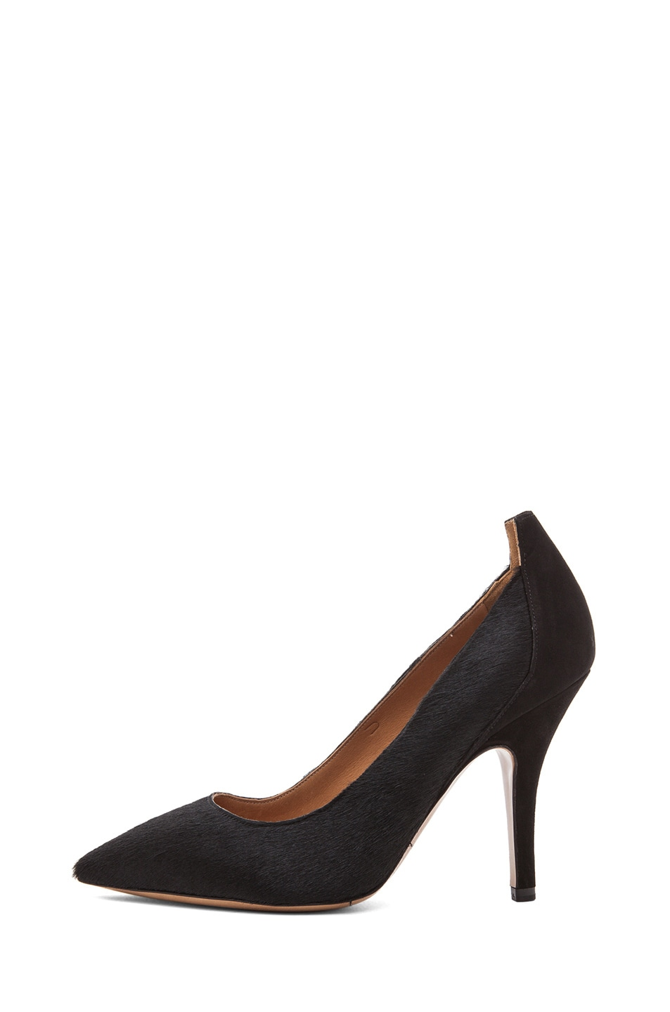 Image 1 of Isabel Marant Pippa Calf Hair Simple Pony Pumps in Black