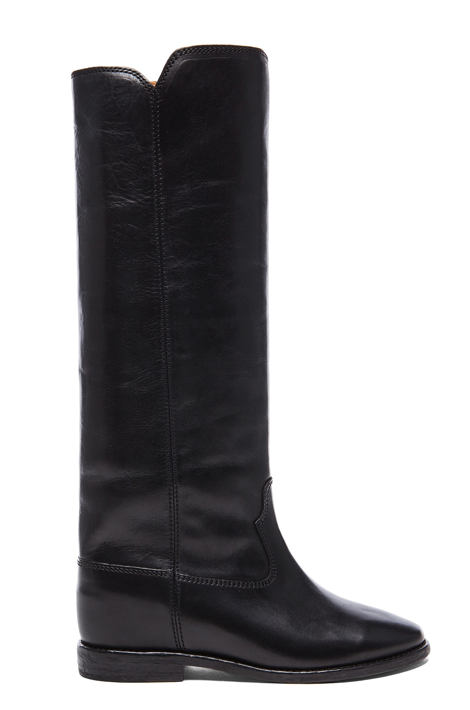 Image 1 of Isabel Marant Cleave Calfskin Leather Boots in Black