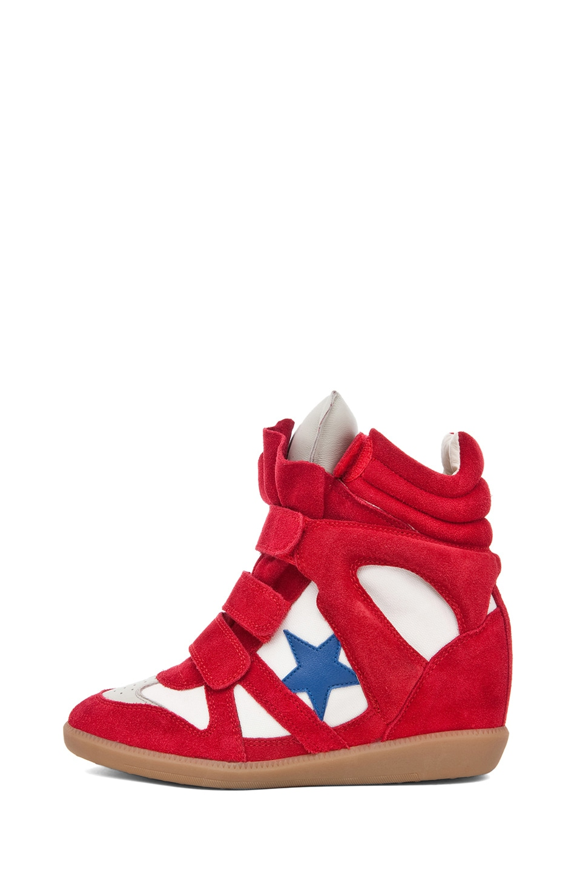 Image 1 of Isabel Marant Bayley Sneaker in Rouge