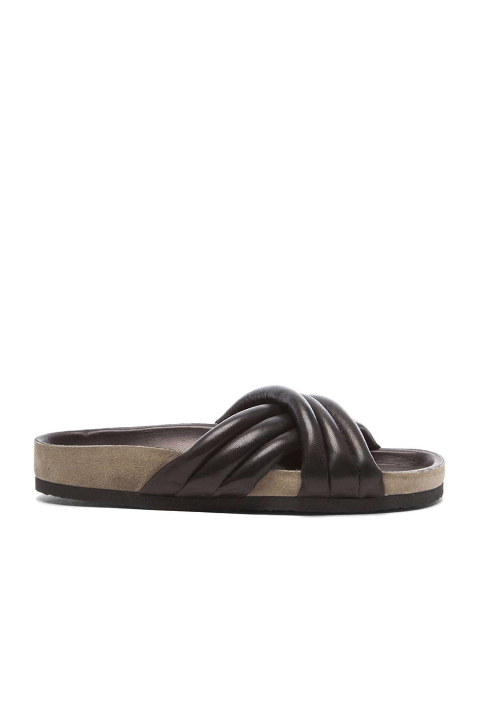 Image 1 of Isabel Marant Holden Lambskin Leather Sandals in Black