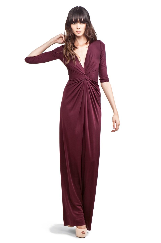 Issa 3/4 Sleeve Maxi Dress in Brown   FWRD