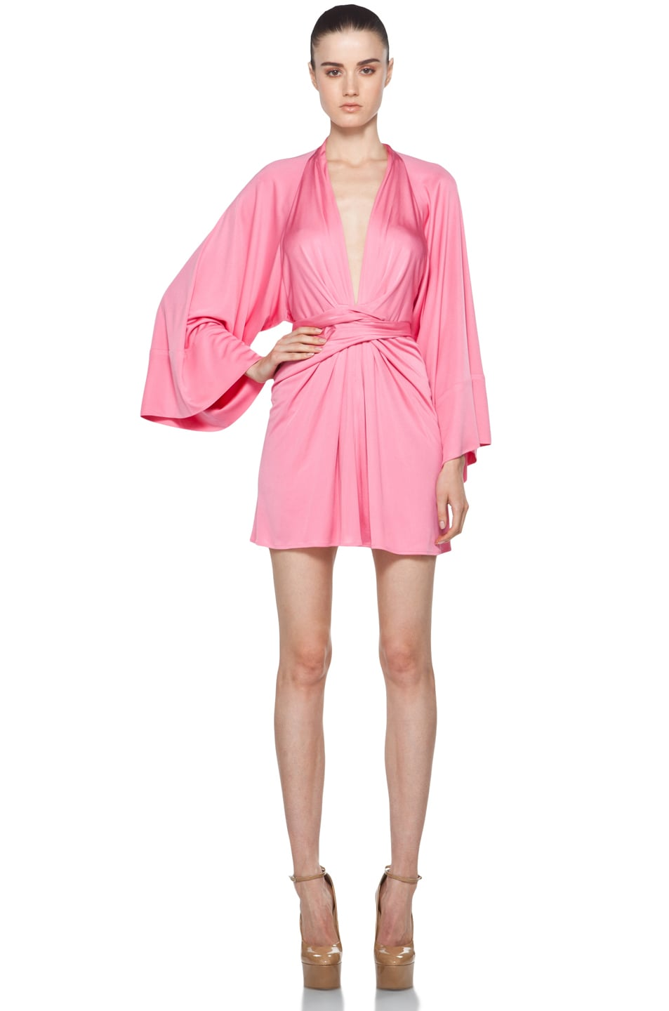 Image 1 of Issa Short Kimono Dress in Cosmo