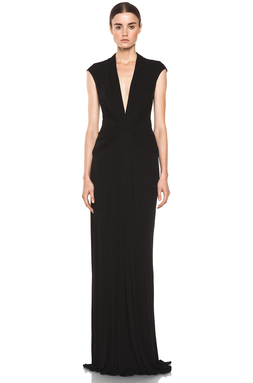 Image 1 of Issa Silk Maxi Dress in Black