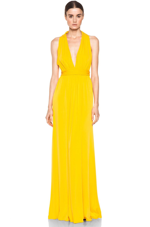 Image 1 of Issa Low Cut Maxi Dress in Pumpkin