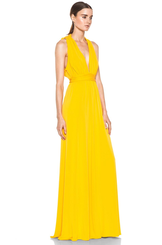 Issa Low Cut Maxi Dress in Pumpkin   FWRD