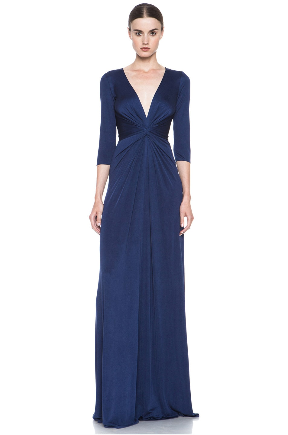 Image 1 of Issa Deep V Gown in Midnight