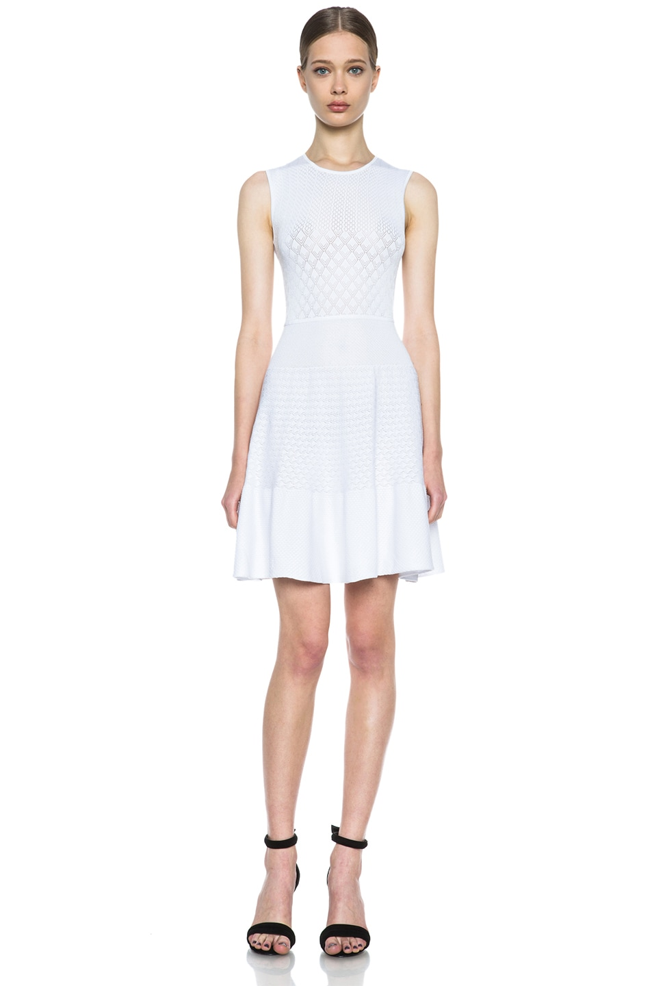 Image 1 of Issa Rib Knit Dress in White