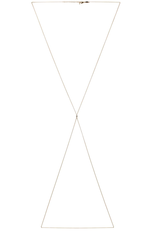 Image 1 of Jacquie Aiche 1 Diamond Body Chain in Yellow Gold