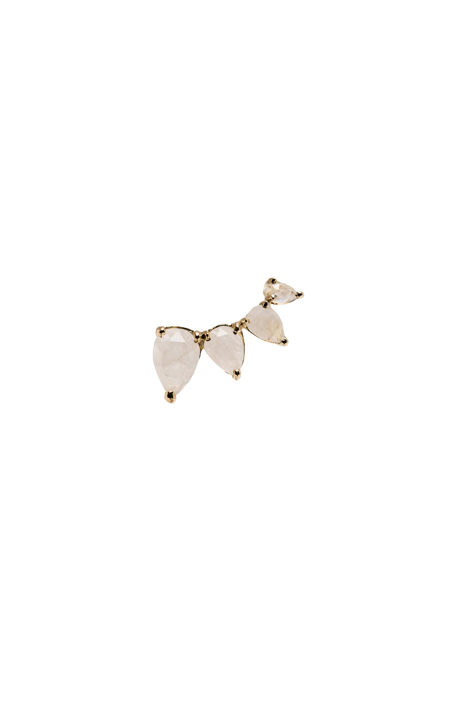 Image 1 of Jacquie Aiche Moonstone Teardrop Left Earcuff in Yellow Gold