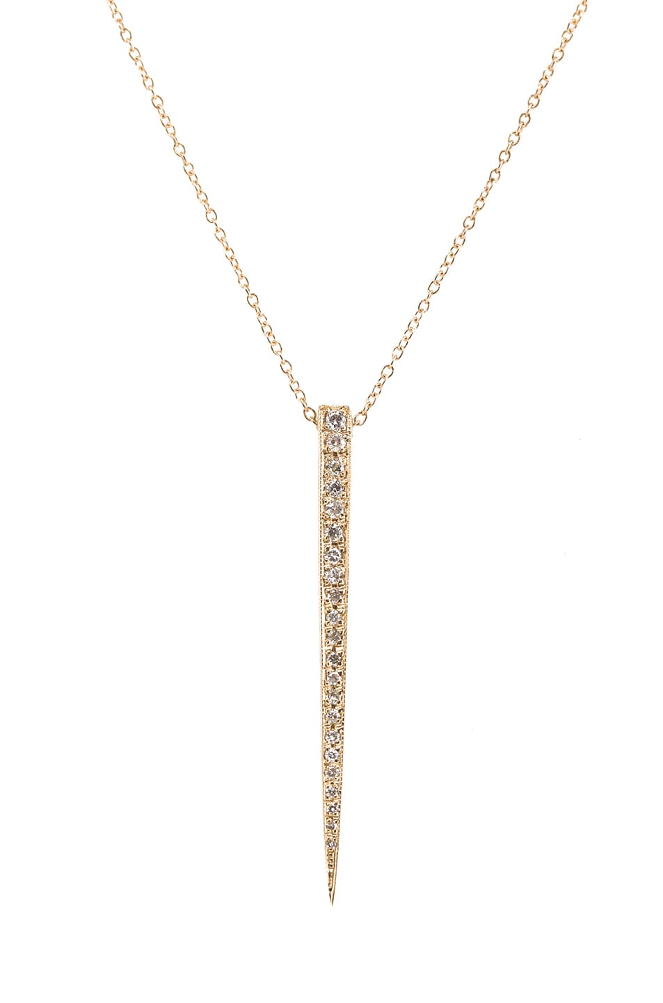 Image 1 of Jacquie Aiche 14K Pave Large Ice Pick Necklace in Yellow Gold