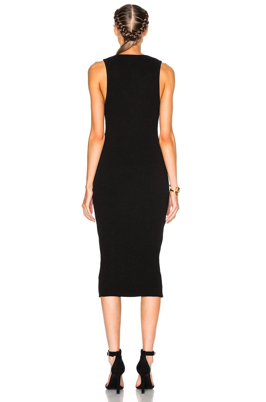 Image 4 of James Perse Heavy Rib V-Neck Dress in Black