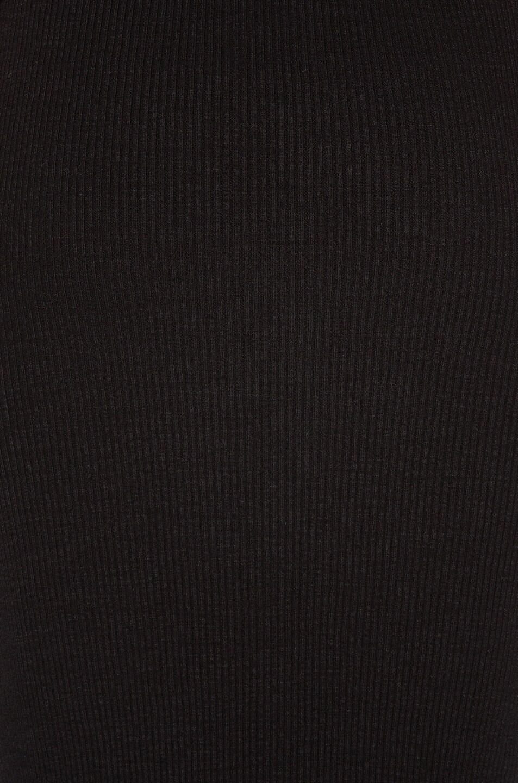 Image 5 of James Perse Heavy Rib V-Neck Dress in Black