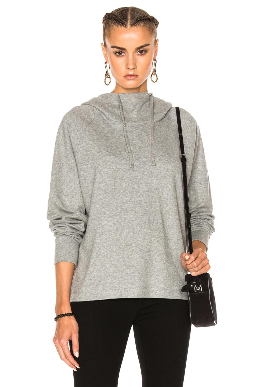 Image 1 of James Perse Oversize Hoodie Sweatshirt in Heather Grey