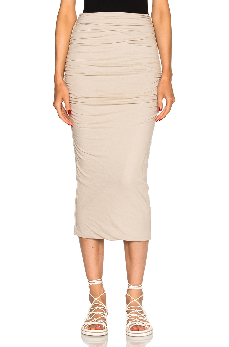337ccc067 Image 1 of James Perse Shirred Tube Skirt in Driftwood