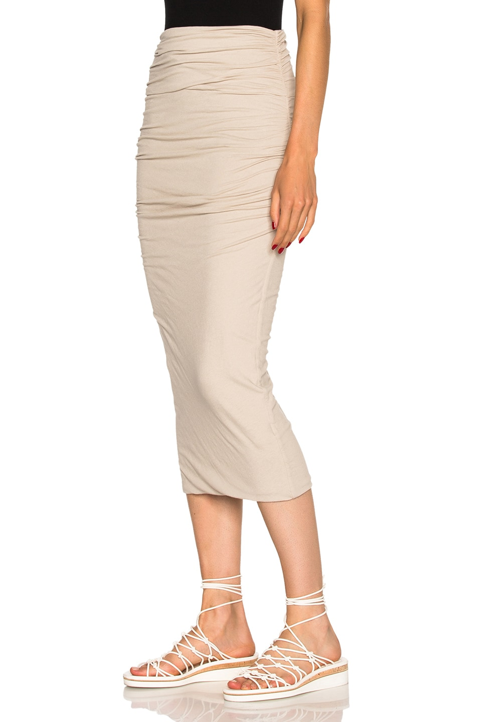 b701c4095 Image 2 of James Perse Shirred Tube Skirt in Driftwood
