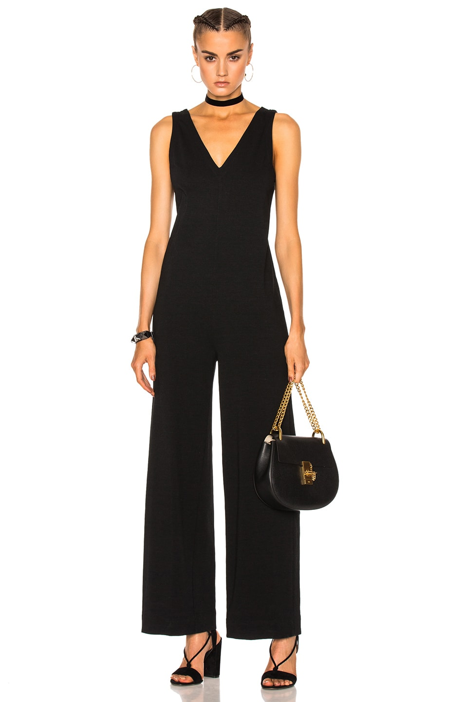 45347d0f58 Image 1 of James Perse Palazzo Jumpsuit in Black