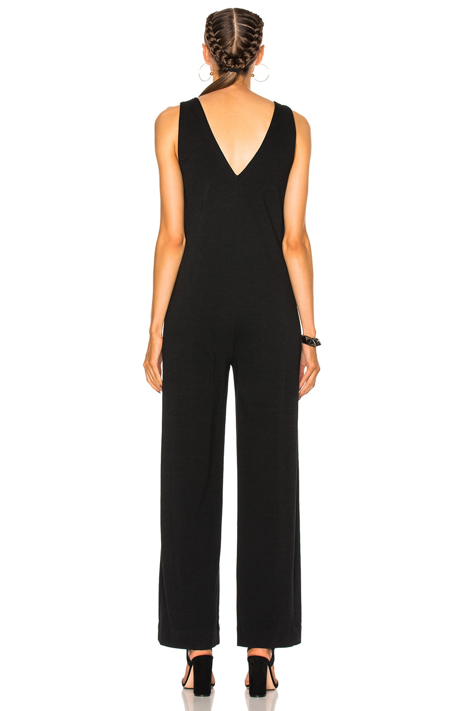 b65648edcb Image 4 of James Perse Palazzo Jumpsuit in Black