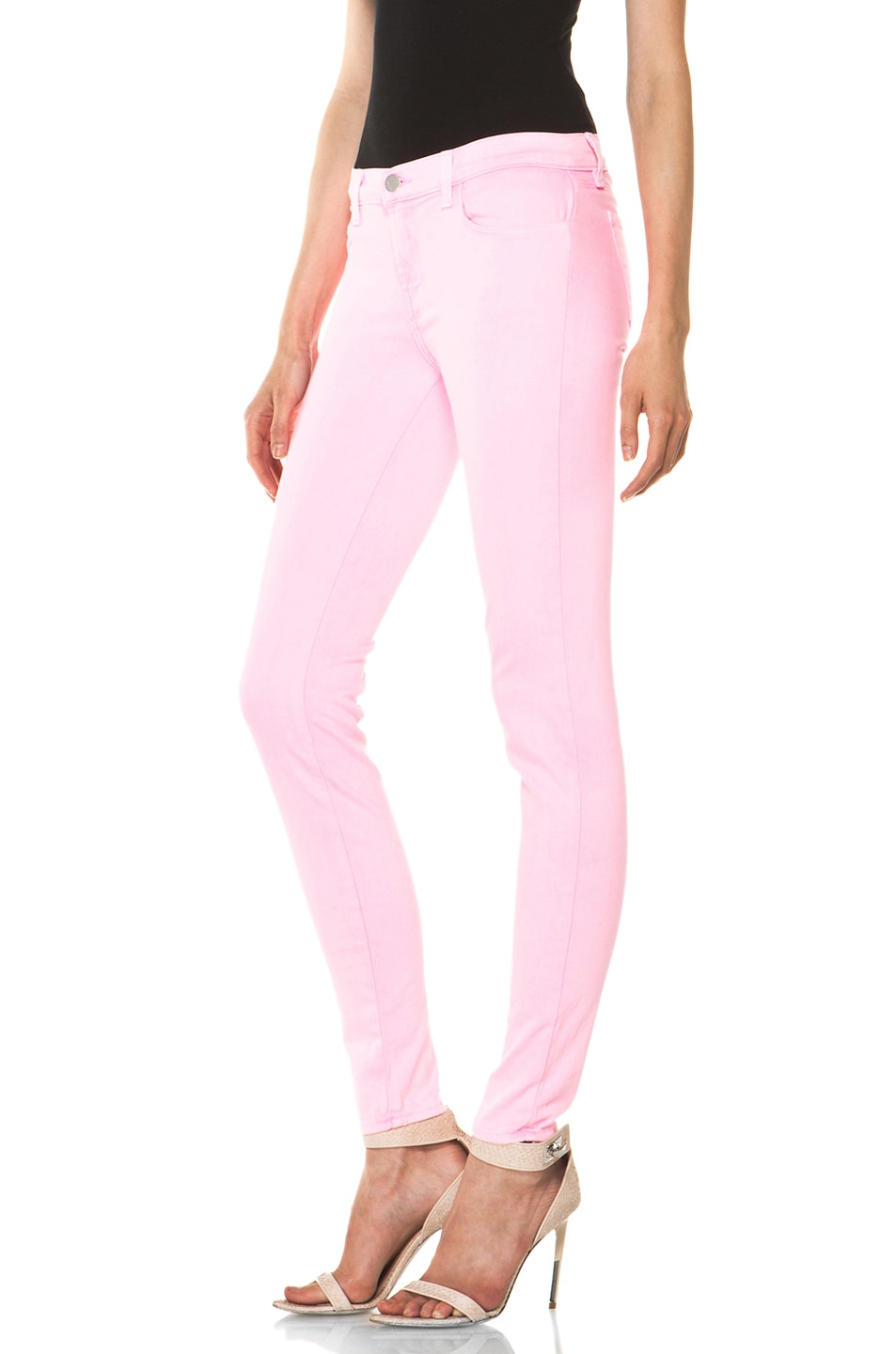 Image 2 of J Brand PINK PARTY EXCLUSIVE Midrise Super Skinny in Pink Party