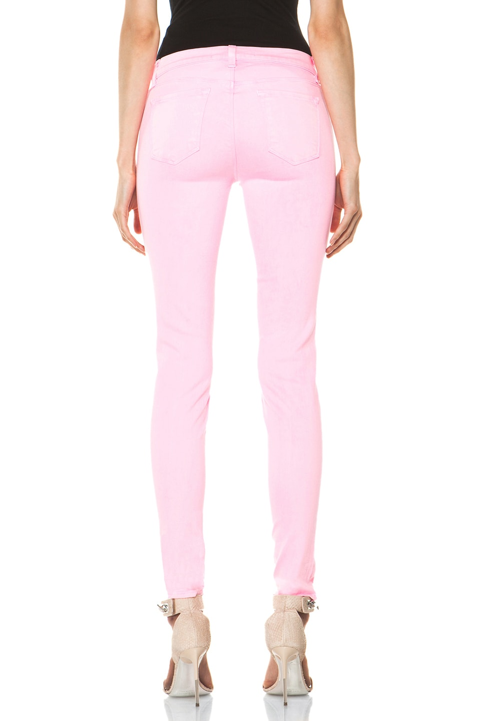 Image 4 of J Brand PINK PARTY EXCLUSIVE Midrise Super Skinny in Pink Party