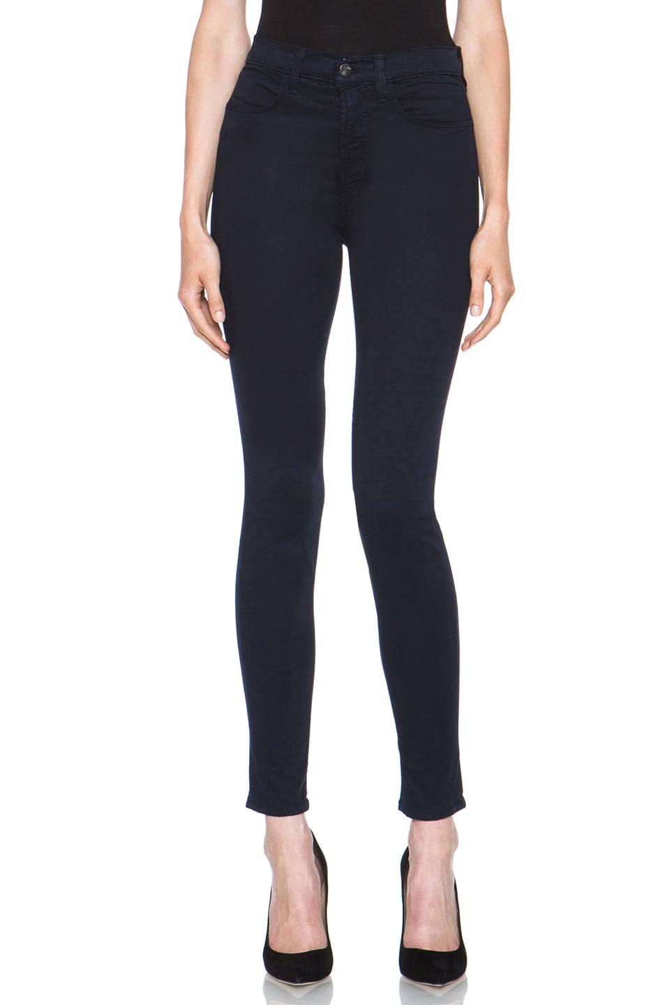Image 1 of J Brand Maria High-Rise Skinny Jean in Carbon Blue