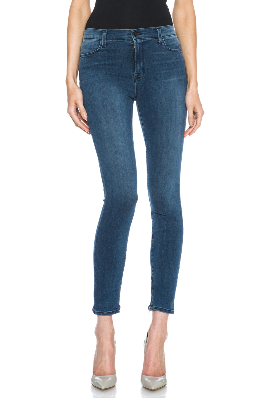Image 1 of J Brand Maria Crop Jean with Inside Zipper in Rumor