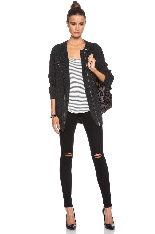 Image 5 of J Brand Super Skinny Distress Knee in Blackout