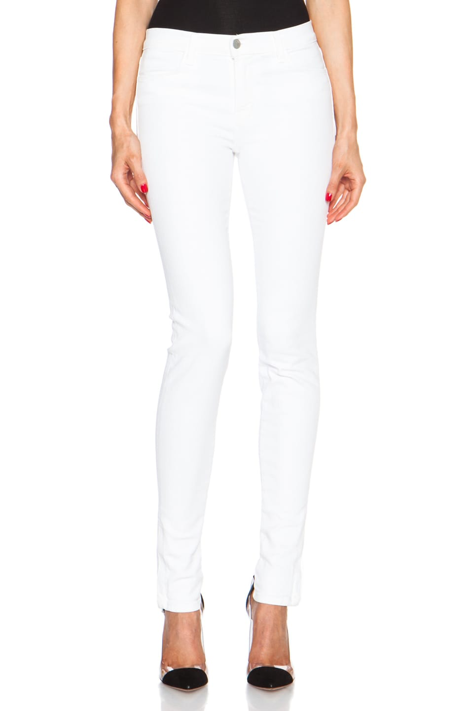 Image 1 of J Brand Zipper Mid Skinny in Blanc