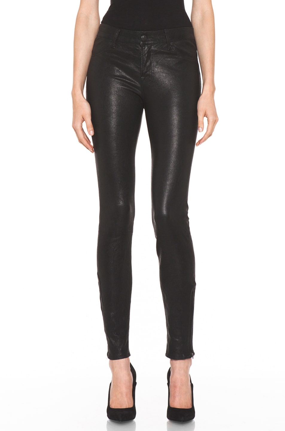 Image 1 of J Brand Leather Pant in Black