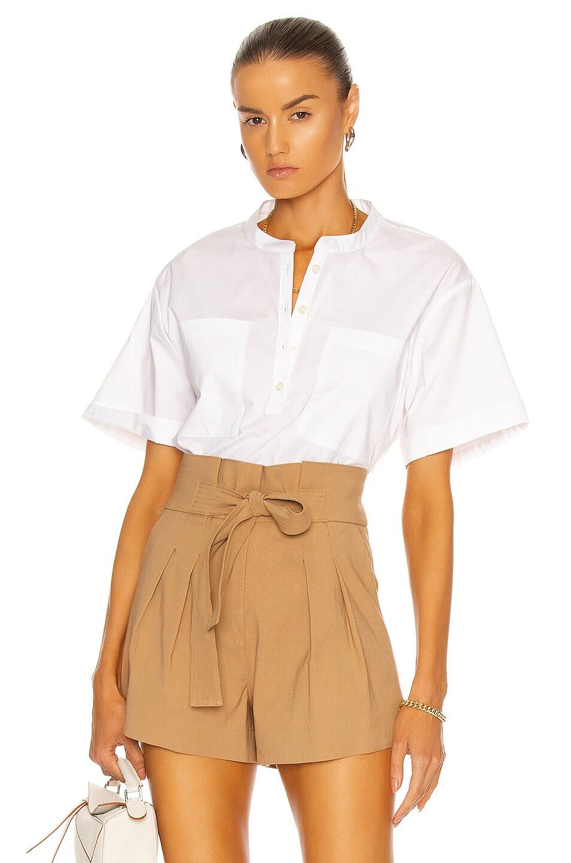 Image 1 of JONATHAN SIMKHAI STANDARD Faye Shirt in White