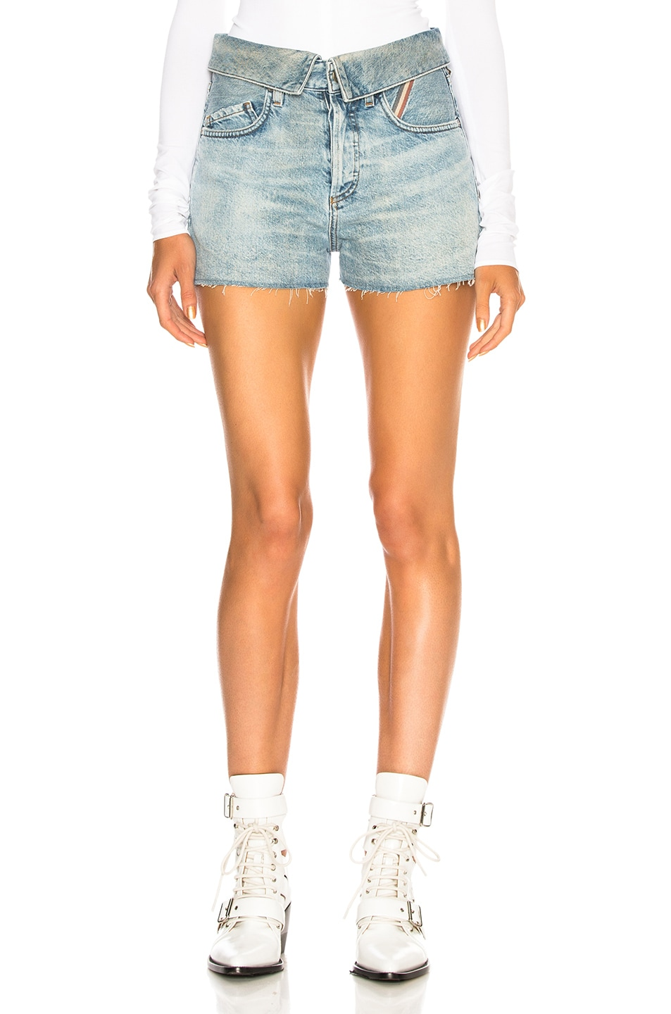 Image 1 of JEAN ATELIER Flip Jean Shorts in Dusty Rose