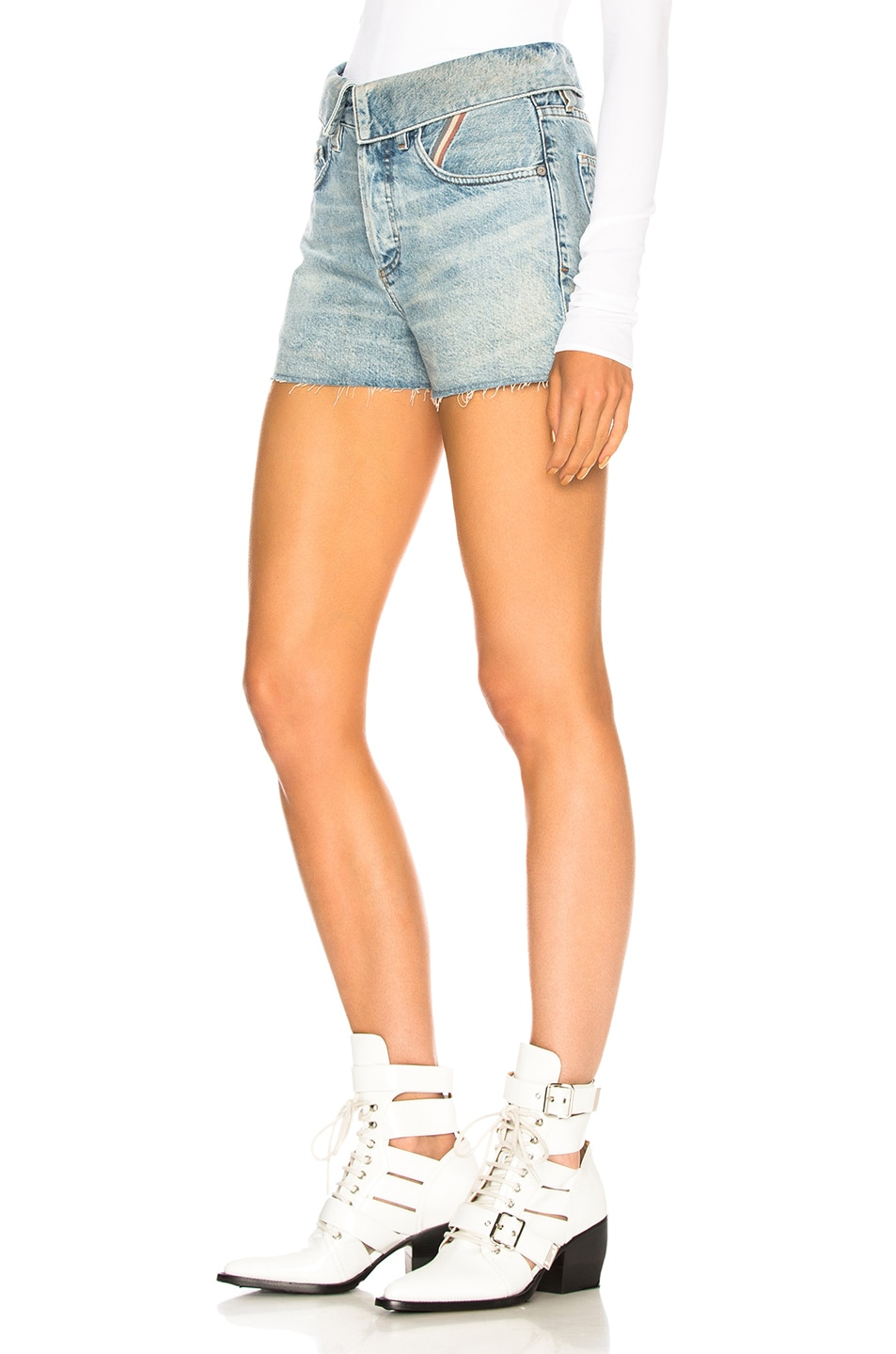Image 3 of JEAN ATELIER Flip Jean Shorts in Dusty Rose