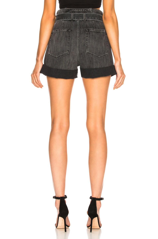 Image 3 of JEAN ATELIER Cinch Jean Shorts in Stone