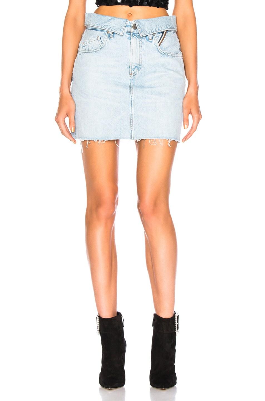 Image 1 of JEAN ATELIER Flip Skirt in Sky