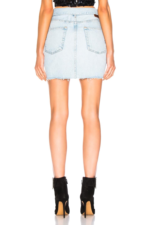 Image 3 of JEAN ATELIER Flip Skirt in Sky