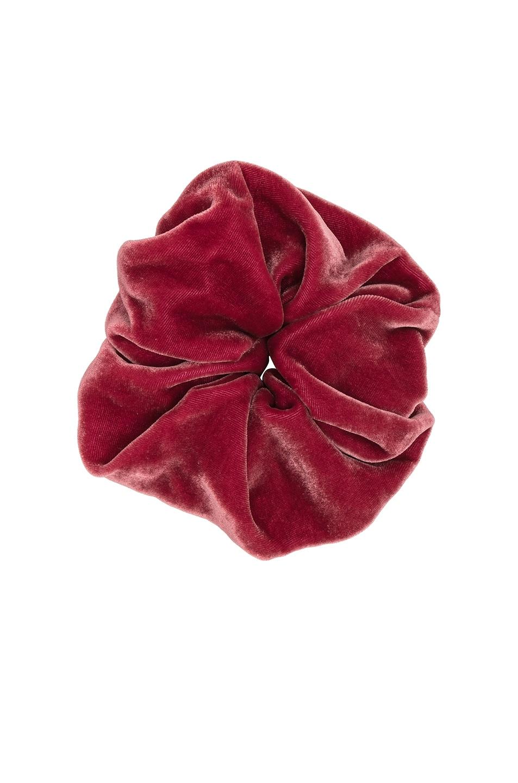 Image 1 of Jennifer Behr Velvet Scrunchie in Tea Rose