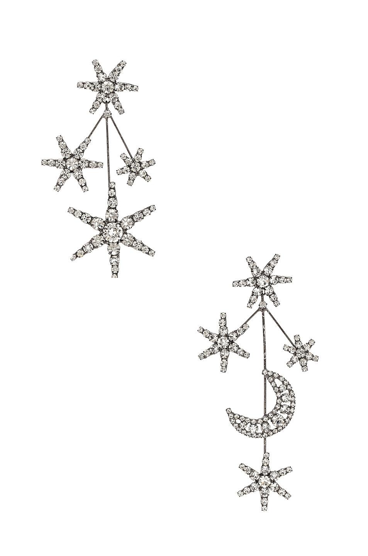 Image 1 of Jennifer Behr Andromeda Earrings in Crystal Gunmetal