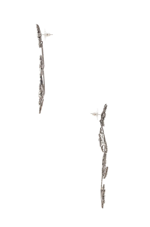 Image 3 of Jennifer Behr Andromeda Earrings in Crystal Gunmetal