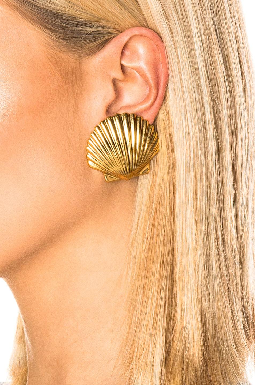 Image 2 of Jennifer Behr Madeleine Shell Earrings in Gold