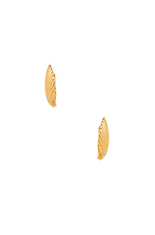 Image 3 of Jennifer Behr Madeleine Shell Earrings in Gold