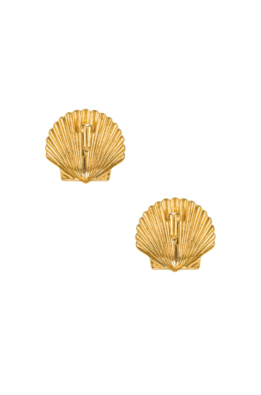 Image 4 of Jennifer Behr Madeleine Shell Earrings in Gold