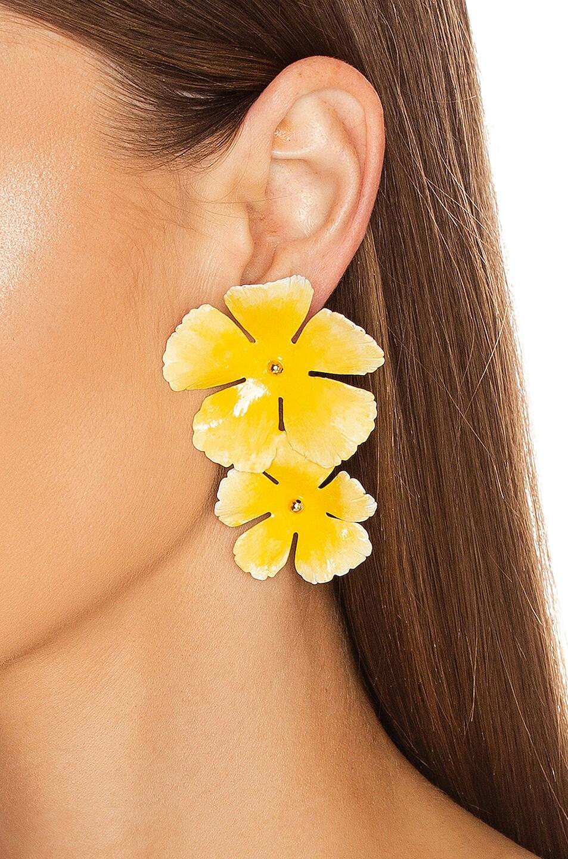 Image 2 of Jennifer Behr Faye Earrings in Buttercup