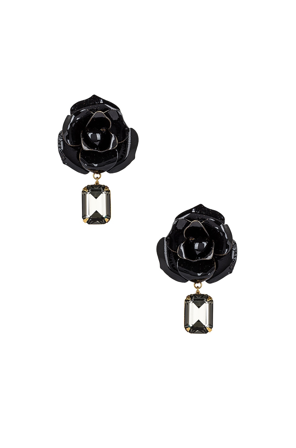 Image 1 of Jennifer Behr Cordelia Earrings in Black