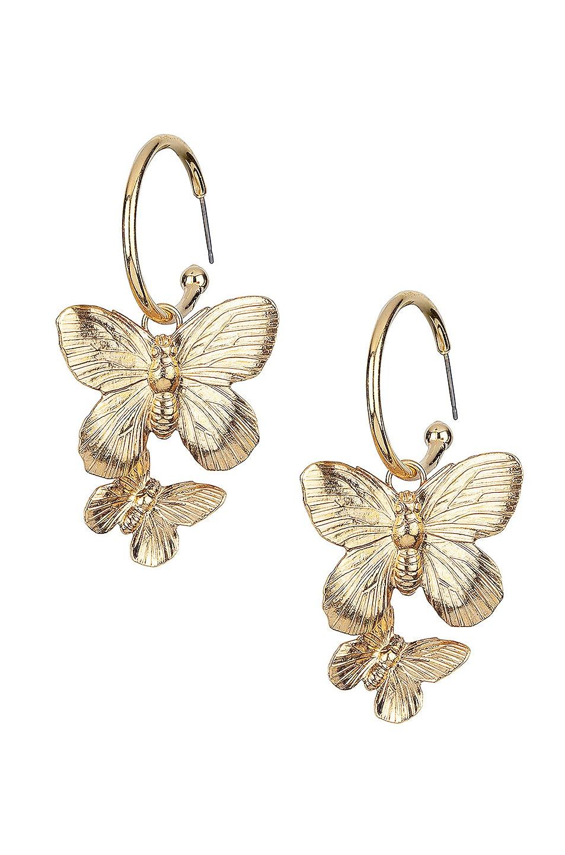 Image 1 of Jennifer Behr Brynn Hoop Earrings in Gold