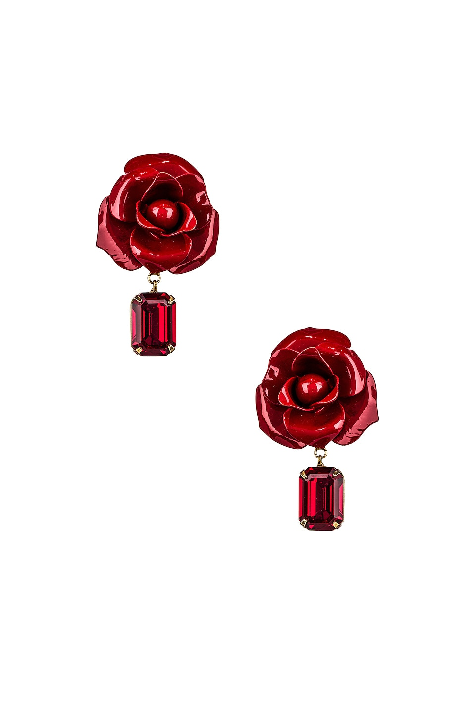 Image 1 of Jennifer Behr Cordelia Earrings in Crimson