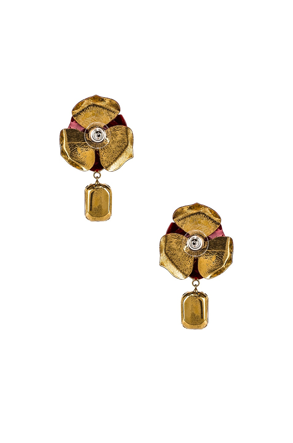 Image 4 of Jennifer Behr Cordelia Earrings in Crimson