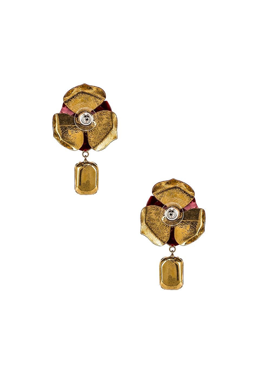 Image 4 of Jennifer Behr Cordelia Earrings in Crimson