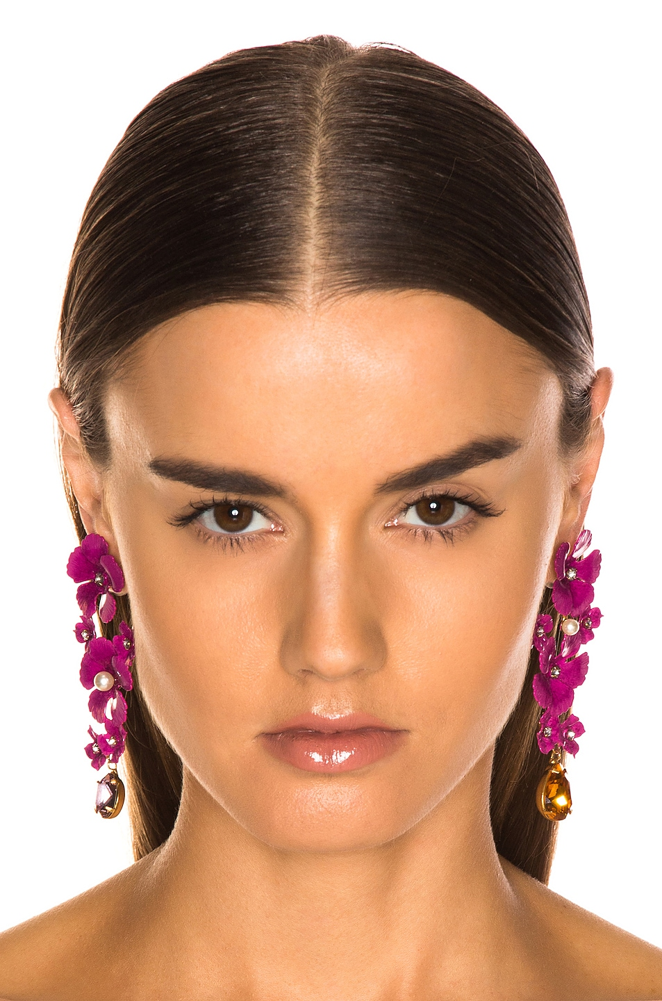 Image 2 of Jennifer Behr Narcissa Earrings in Mulberry