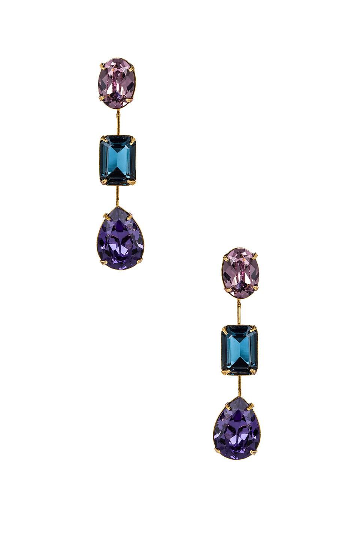 Image 1 of Jennifer Behr Allanah Earrings in Peacock