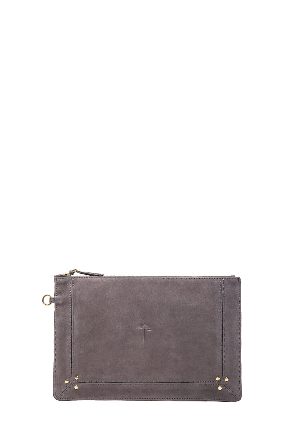 Image 1 of Jerome Dreyfuss Large Popoche Clutch in Stone