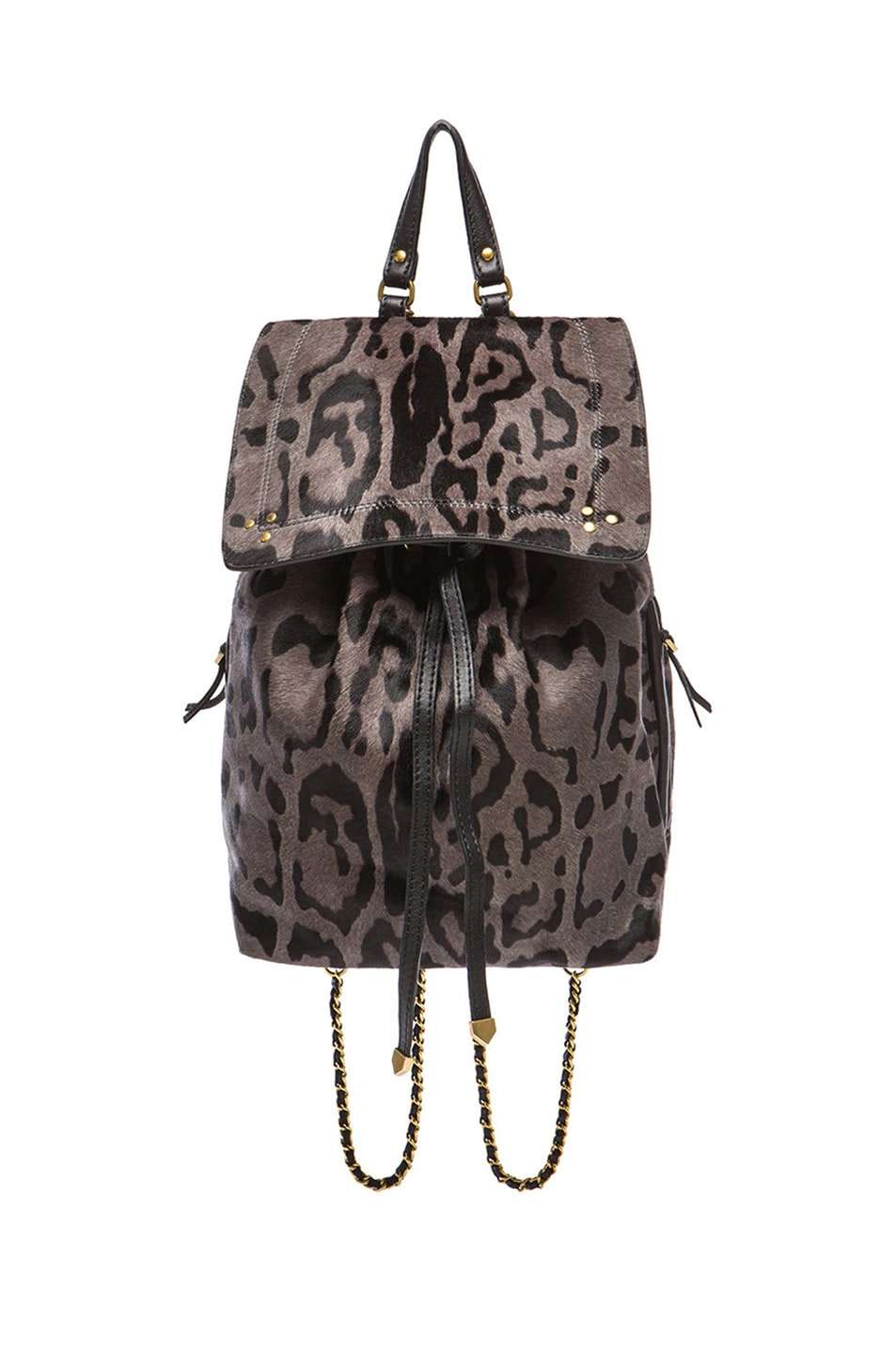 Image 1 of Jerome Dreyfuss Florent Backpack in Gris Leopard Pony